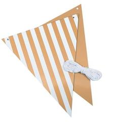 FS Bunting Reversible Met Gold Stripe And Solid 3mtr