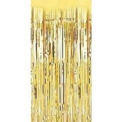 Metallic Door Curtain Metallic Gold 90 x 200cm