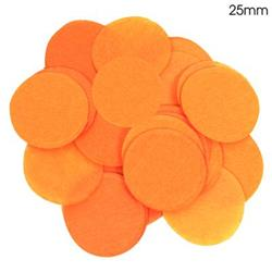 Oaktree 2.5cm Paper Confetti Orange
