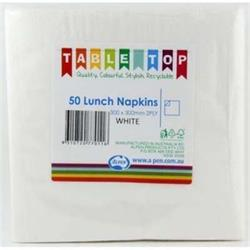 Alpen Lunch Napkins White 2 ply