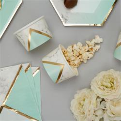 Colour Block Marble Tub - Mint