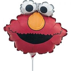 Elmo Head Mini Shape Air filled with cup and stick.
