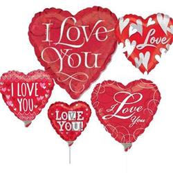 23cm printed Inflated Love Assorted 5 pack