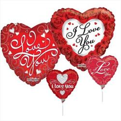 23cm Printed Foils Inflated Assorted Love Designs