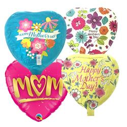 23cm Printed Foils Inflated Mothers Day Assorted - designs may vary