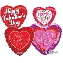 23cm Printed Foils Inflated Valentines Assorted