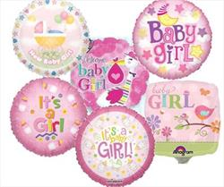 23cm Printed Foils Inflated Assorted Girl Designs