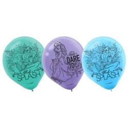 Dream Big Ariel - Little Mermaid 23cm Latex Balloons pack of 6