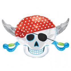 Pirates Party Skull SuperShape 71cm x 45cm