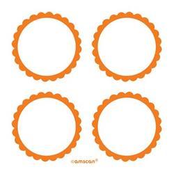 Scalloped Labels Orange Peel 5cm