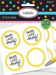 Scalloped Labels Yellow Sunshine 5cm