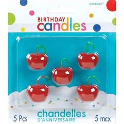 Birthday Toothpick Candles Cherries