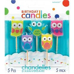 Birthday Toothpick Candles Owl 3.2cm