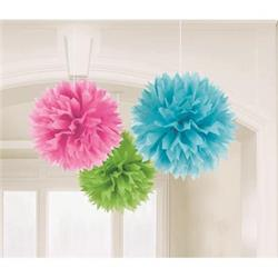 Fluffy Paper Ball Decoration Spring Asst 40.6cm