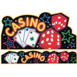 Casino Cut Out & banner Decorating kit