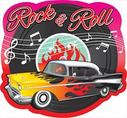 50s Rock and Roll Cut Outs Bulk 20cm