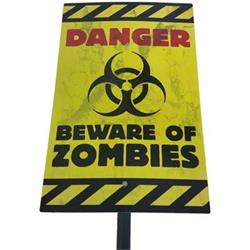 Sign Danger Beware of Zombies
