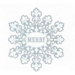 Merry Snowflake Cutout