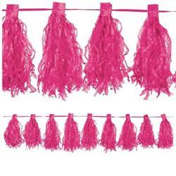 Paper Tassel Garland Bright Pink with 20 x 30cm tassels
