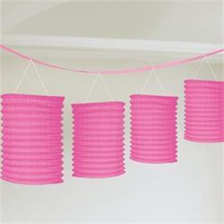 Lantern Garland Bright pink 3.65mtrs