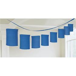 Lantern Garland Bright Royal blue 3.65 mtrs
