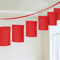 Lantern Garland Red 3.65mtrs