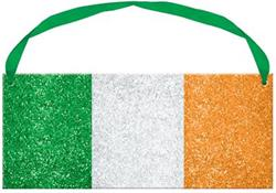 Irish Flag Sign with Ribbon Hanger 9.5cm x 22.8cm