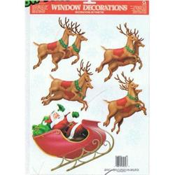 Santas Sleigh Window Decorations