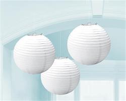 Lanterns 24cm Paper White