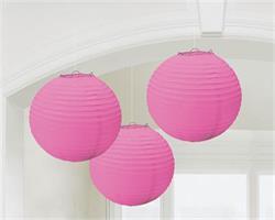 Lanterns 24cm Paper Pink