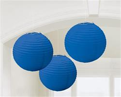 Lanterns 24cm Paper Bright Royal blue
