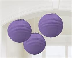 Lanterns 24cm Paper New Purple