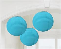 Lanterns 24cm Paper Caribbean Blue