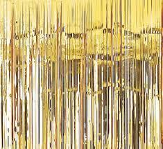 Metallic Door Curtain Gold