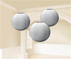 Lanterns 24cm Paper Silver