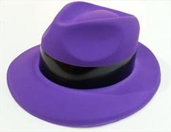 I Love the 80s Fedora Purple w/Black band