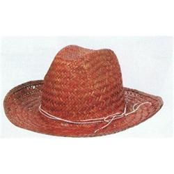 Straw Hat - Maroon