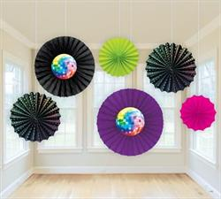 70s Disco Printed Paper Fans