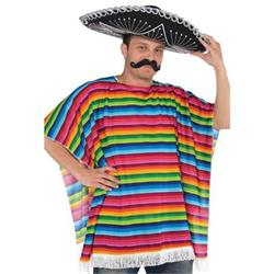 Fiesta Multi Colored Serape (poncho)