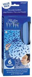 Flutter Fetti Blue 6 confetti sticks 10.4 g confetti per stick