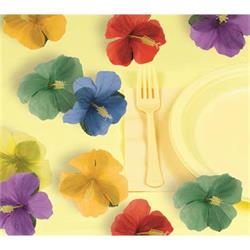 Luau Fabric Hibiscus Flower Sprinkles 5cm