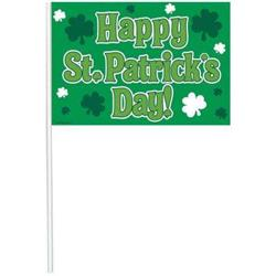 Happy St Patricks Day Multi pack Plastic Flags