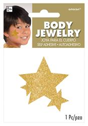 Glitter Jewelery Body Gold Stars.