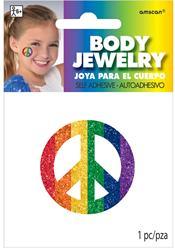 Peace Sign Rainbow Body Jewelery