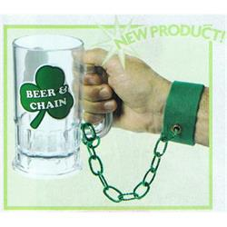 St Patricks Beer Glass on Chain and Arm Band
