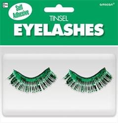 Tinsel Eyelashes Green