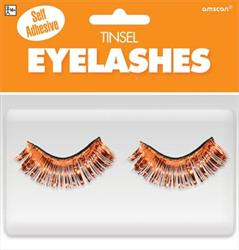Tinsel Eyelashes Orange