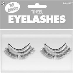 Tinsel Eyelashes White