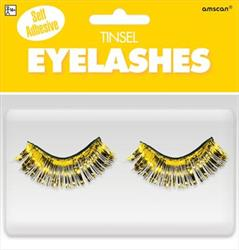 Tinsel Eyelashes Yellow