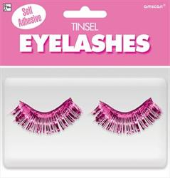 Tinsel Eyelashes Pink